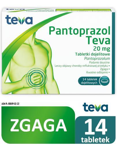 TEVA PANTOPRAZOL 20 mg - 14 tabl. - Apteka internetowa Melissa