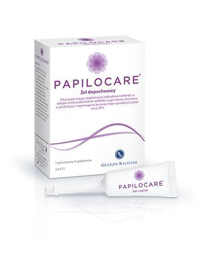PAPILOCARE Żel dopochwowy - 7 x 5 ml - wspomagająco przy HPV - cena, opinie, wskazania - Apteka internetowa Melissa