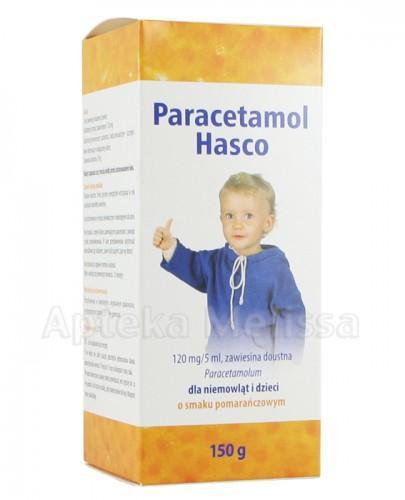 PARACETAMOL HASCO Zawiesina dla niemowląt i dzieci o smaku pomarańczowym 120 mg/5ml  - 150 g - Apteka internetowa Melissa