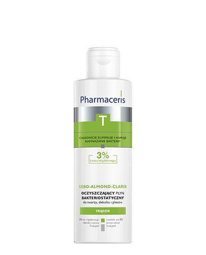 PHARMACERIS T SEBO ALMOND CLARIS Płyn oczyszczający bakteriostatyczny 3% - 190 ml - Apteka internetowa Melissa