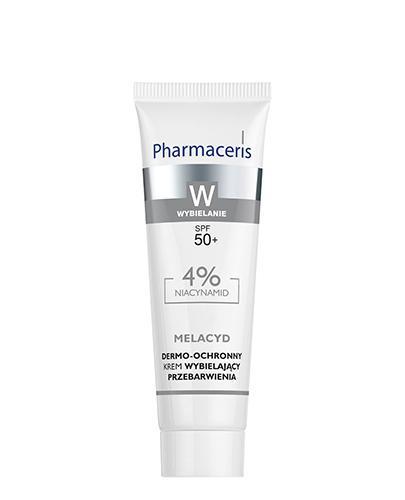 PHARMACERIS W MELACYD Dermo-ochronny krem wybielający przebarwienia na dzień SPF50+ - 30 ml - Apteka internetowa Melissa
