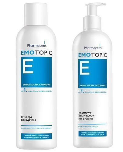 PHARMACERIS EMOTOPIC Emulsja do kąpieli - 400 ml + PHARMACERIS EMOTOPIC Kremowy żel pod prysznic - 400 ml - Apteka internetowa Melissa