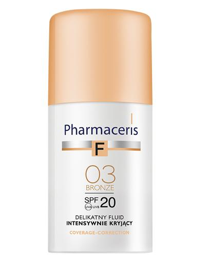 PHARMACERIS F Delikatny fluid intensywnie kryjący SPF 20 bronze 03 (brązowy) - 30 ml - Drogeria Melissa