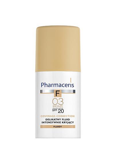 PHARMACERIS F Delikatny fluid intensywnie kryjący SPF 20 bronze 03 (brązowy) - 30 ml - Apteka internetowa Melissa