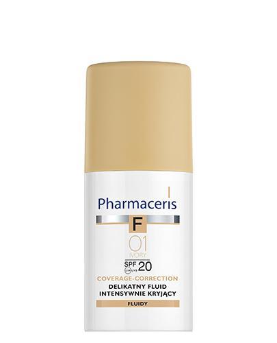 PHARMACERIS F Delikatny fluid intensywnie kryjący SPF 20 ivory 01 (kość słoniowa) - 30 ml  - Drogeria Melissa