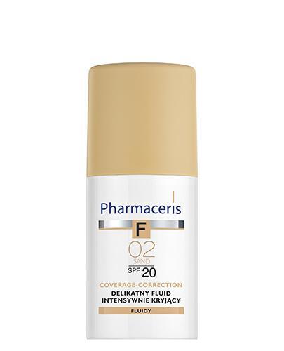 PHARMACERIS F Delikatny fluid intensywnie kryjący SPF 20 sand 02 (piaskowy) - 30 ml  - Drogeria Melissa