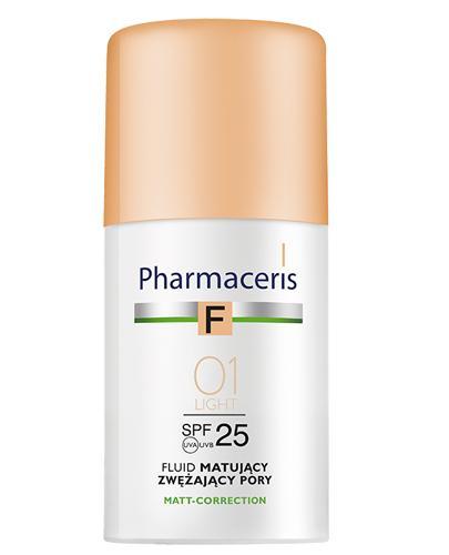 PHARMACERIS F Fluid matujący zwężający pory SPF25 01 ivory - 30 ml - Apteka internetowa Melissa