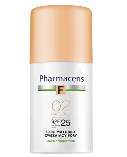 PHARMACERIS F Fluid matujący zwężający pory SPF25 02 natural - 30 ml