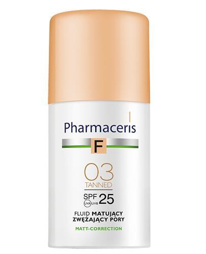 PHARMACERIS F Fluid matujący zwężający pory SPF25 03 tanned - 30 ml