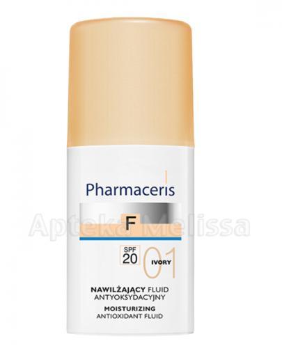 PHARMACERIS F Nawilżający fluid antyoksydacyjny z sylimaryną SPF20 01 ivory - 30 ml  - Apteka internetowa Melissa