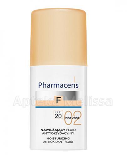 PHARMACERIS F Nawilżający fluid antyoksydacyjny z sylimaryną SPF20 02 natural -  30 ml - Apteka internetowa Melissa