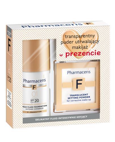 PHARMACERIS F Zestaw: Fluid intensywnie kryjący 01 + transparentny puder matujący - 30 ml + 6 g - Drogeria Melissa