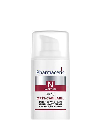 PHARMACERIS N OPTI CAPILARIL Intensywny krem redukujący cienie i worki pod oczami - 15 ml - Drogeria Melissa