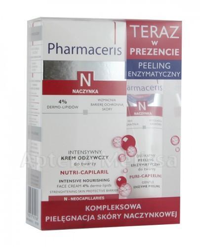 PHARMACERIS N NUTRI CAPILARIL Intensywny krem odżywczy do twarzy - 50 ml + PHARMACERIS N PURI CAPEELING Delikatny peeling enzymatyczny do twarzy - 30 ml - Apteka internetowa Melissa
