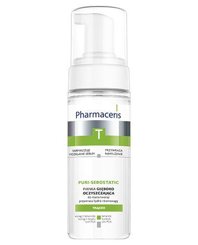 PHARMACERIS T PURI SEBOSTATIC Pianka głęboko oczyszczająca do twarzy - 150 ml - Drogeria Melissa