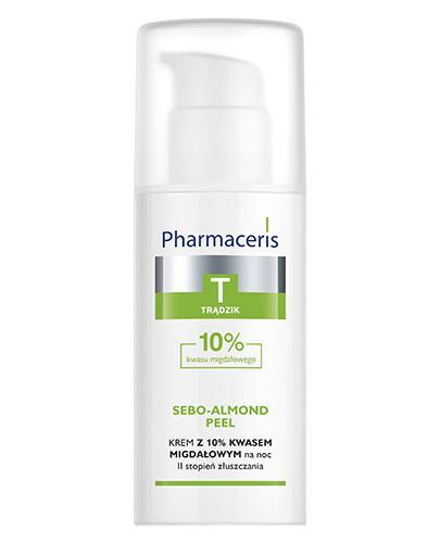 PHARMACERIS T SEBO-ALMOND PEEL II STOPIEŃ ZŁUSZCZANIA 10% Krem peelingujący - 50 ml - Drogeria Melissa