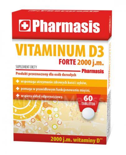 PHARMASIS Vitaminum D3 Forte 2000 j.m. - 60 tabl. - Apteka internetowa Melissa