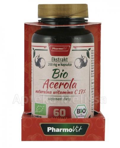 PHARMOVIT Bio acerola 200 mg - 60 kaps.  - Apteka internetowa Melissa