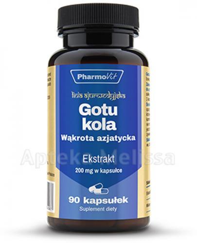 PHARMOVIT GOTU KOLA Wąkrotka azjatycka 200 mg - 90 kaps.  - Apteka internetowa Melissa