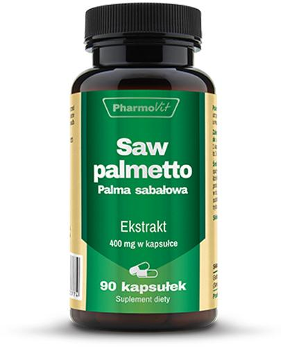 PharmoVit Saw palmetto Palma sabałowa 400 mg - 90 kaps. Na prostatę - cena, opinie, stosowanie  - Apteka internetowa Melissa
