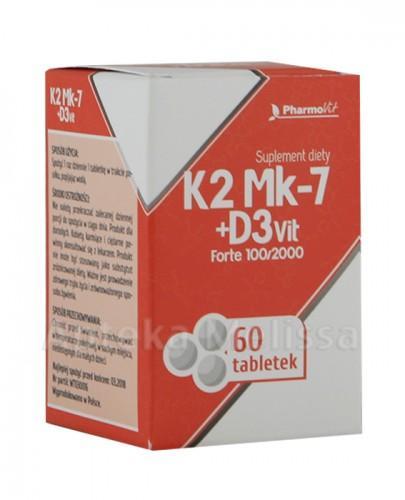 PHARMOVIT K2 MK-7 + D3 VIT Forte 100/2000 - 60 tabl.