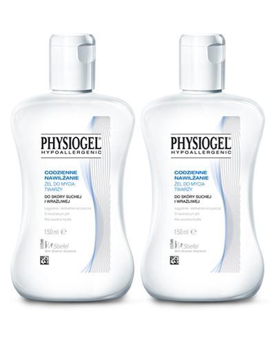 PHYSIOGEL Żel do mycia twarzy - 2 x 150 ml. Skóra sucha i wrażliwa.