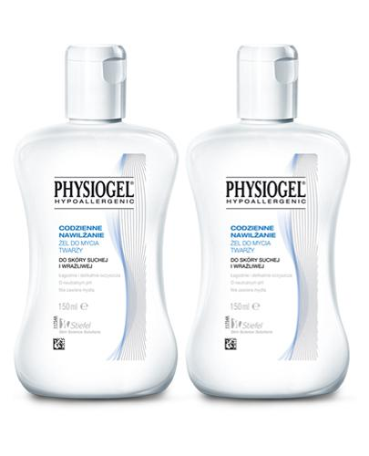 PHYSIOGEL Żel do mycia twarzy - 2 x 150 ml. Skóra sucha i wrażliwa - cena, opinie, wskazania - Apteka internetowa Melissa