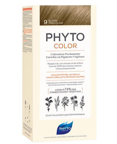 PHYTO COLOR Farba pielęgnacyjna do włosów -  9 BARDZO JASNY BLOND