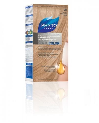 PHYTO COLOR Farba pielęgnacyjna do włosów - 9D BARDZO JASNY ZŁOTY BLOND