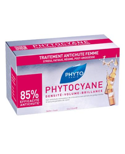 PHYTO PHYTOCYANE Rewitalizujące serum przeciw wypadaniu włosów u kobiet - 12 amp. x 7,5ml