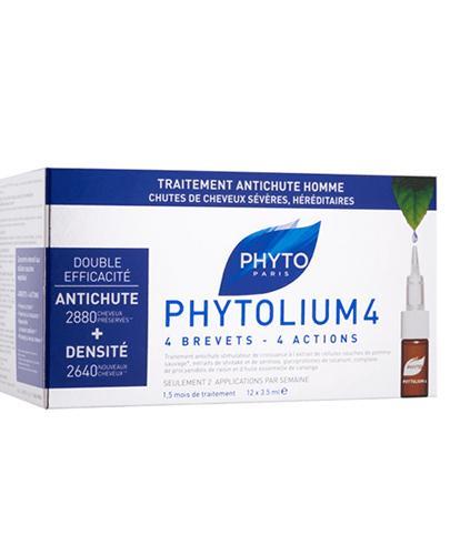 PHYTO PHYTOLIUM Kuracja przeciw wypadaniu włosów typu męskiego - 12 amp.x 3,5 ml
