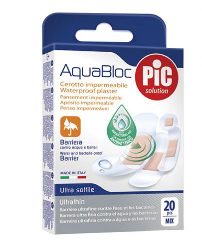Pic Solution AquaBloc Plaster antybakteryjny – zestaw plastrów o różnych wymiarach – 20 szt. - cena, opinie, właściwości - Drogeria Melissa