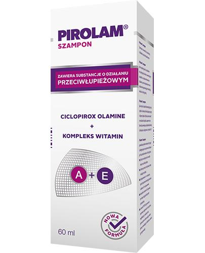 PIROLAM Szampon przeciwłupieżowy - 60 ml - działanie przeciwgrzybicze - cena, opinie, właściwości - Apteka internetowa Melissa