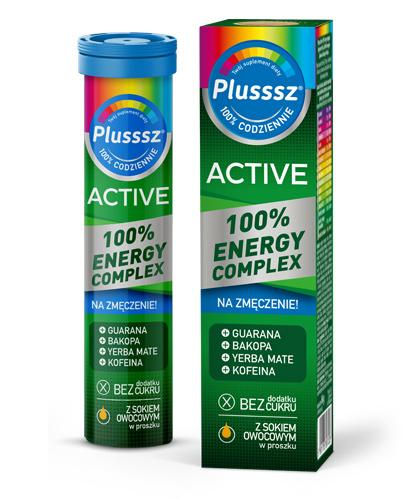 Plusssz Active  100% Energy Complex - 20 tabl. mus. Na znużenie - cena, opinie, właściwości  - Drogeria Melissa