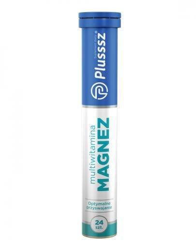 PLUSSSZ Multiwitamina + Magnez - 24 tabl. - cena, opinie, składniki - Drogeria Melissa