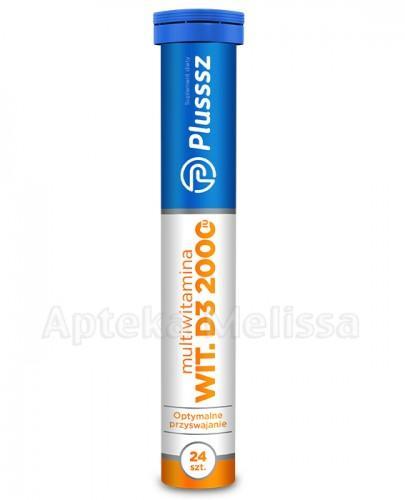 PLUSSSZ WITAMINA D3 Z MULTIWITAMINĄ Tabletki musujące o smaku ananasa z pomarańczą - 24 tabl. - Apteka internetowa Melissa