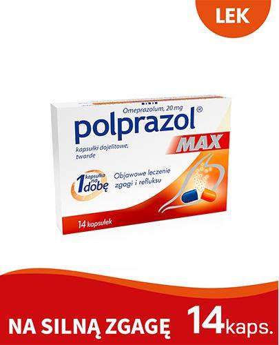 POLPRAZOL MAX 20 mg - 14 kaps. - Apteka internetowa Melissa