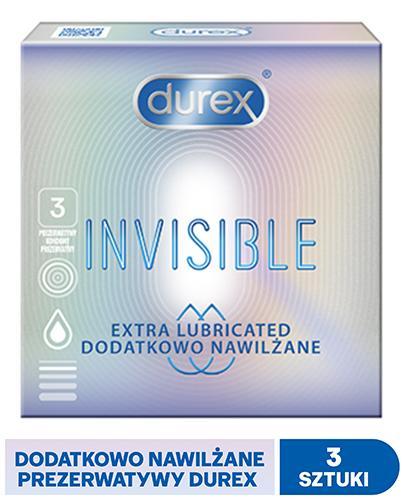 DUREX INVISIBLE Prezerwatywy dodatkowo nawilżane - 3 szt. - Apteka internetowa Melissa