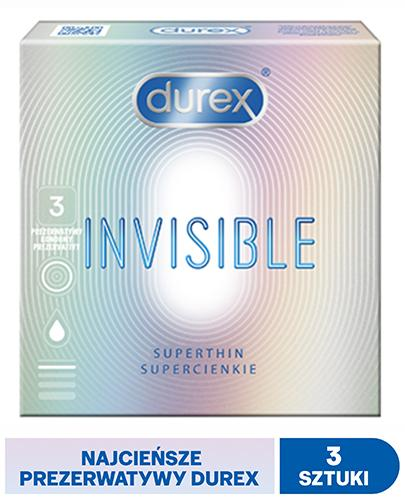 DUREX INVISIBLE Prezerwatywy dla większej bliskości - 3 szt.
