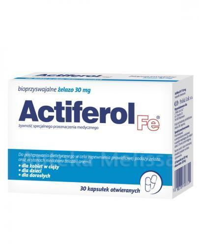 ACTIFEROL FE 30 mg - 30 kaps. + ACTIFEROL FE 30 mg - 30 kaps. Data ważności: 2016.10.31
