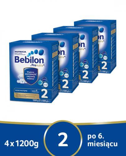 BEBILON 2 Z PRONUTRA+ Mleko modyfikowane w proszku - 4x1200g - Apteka internetowa Melissa