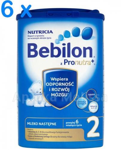 BEBILON 2 Z PRONUTRA Mleko modyfikowane w proszku - 6 x 800 g + Smoczek GRATIS !   – Apteka internetowa Melissa