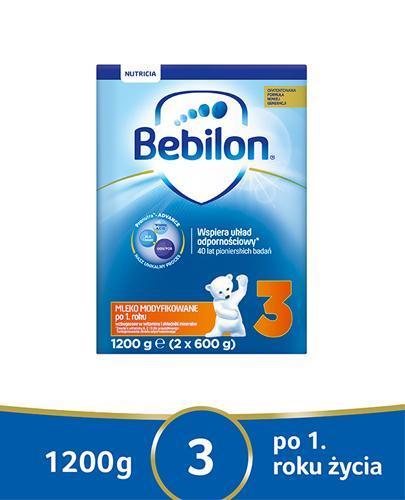 BEBILON 3 JUNIOR Z PRONUTRA+ Mleko modyfikowane w proszku - 1200 g uszkodzone kartonowe opakowanie - Apteka internetowa Melissa