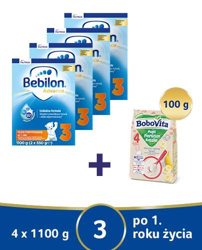 Bebilon 3 z Pronutra-Advance Mleko modyfikowane w proszku -4 x 1100 g Dla dzieci powyżej 1. roku życia - cena, opinie, stosowanie