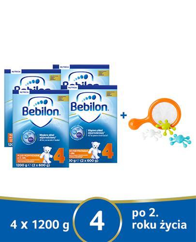 BEBILON 4 JUNIOR Z PRONUTRA+ Mleko modyfikowane w proszku - 4x1200 g + Akademia Czuczu 2-3 lata - Apteka internetowa Melissa