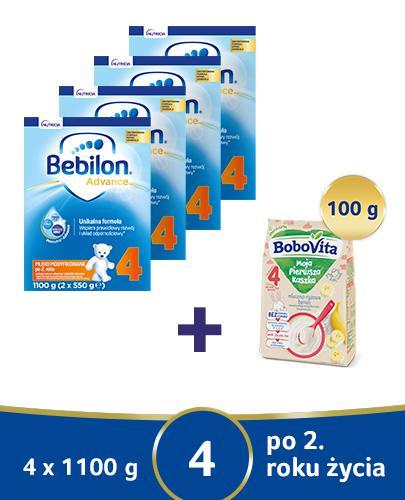 Bebilon 4 z Pronutra-Advance Mleko modyfikowane w proszku - 4 x 1100 g Dla dzieci powyżej 2. roku życia + MLEKOTORBA Bebilon - Apteka internetowa Melissa