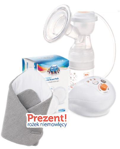 CANPOL LAKTATOR Elektryczny EasyStart 12/201- 1 szt. + CANPOL Wkładki laktacyjne - 2 x 60 szt. + Rożek niemowlęcy - Apteka internetowa Melissa