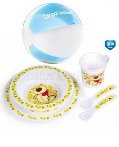 CANPOL Plastikowy zestaw stołowy 4/401 - 1 szt. + Piłka GRATIS !  - Apteka internetowa Melissa