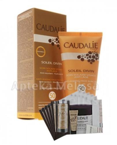 CAUDALIE SOLEIL DIVIN Krem przeciwzmarszczkowy z wysoką ochroną przeciwsłoneczną SPF50 - 40 ml 059 + Próbki Caudalie 10 ml GRATIS ! - Apteka internetowa Melissa