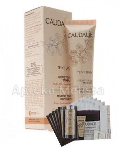 CAUDALIE TEINT DIVIN Mineralny krem brązujący do ciemnej karnacji - 30 ml 107 + Próbki Caudalie 10 ml GRATIS !